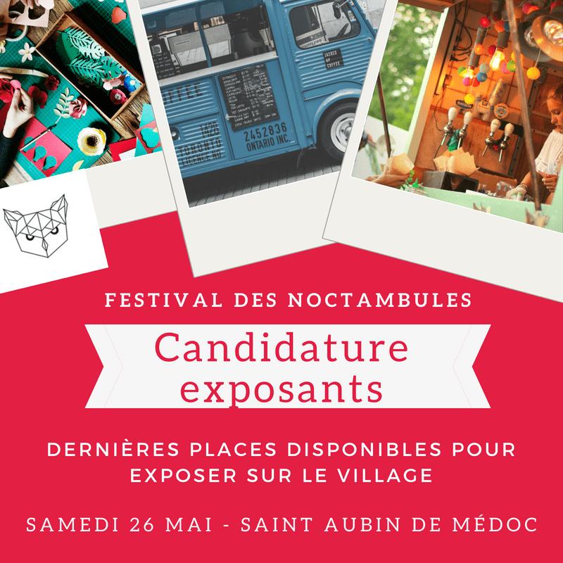 Candidature Exposant Noctambules 2018